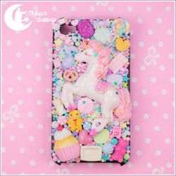 Dreamy Unicorn iphone case by CuteMoonbunny