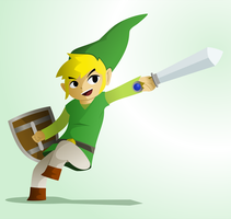Toon Link by TheRetroArtist