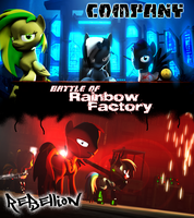 Battle of Rainbow Factory by JarusKais