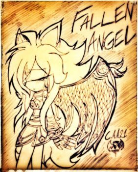 Fallen Angel... by clockangelalice21