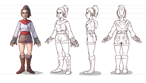 Character Turnaround by Whiksers