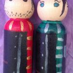 Harry Potter Wedding Cake Toppers by Itchywitchygirl