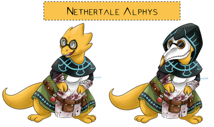 Nethertale Alphys by Nojiko444