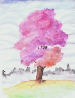 Tree Watercolors by LittleGreenSpirit