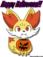 Fennekin Halloween by Mahoxy