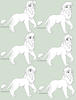 Adult Male Lion Base by Kainaa