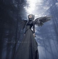A dark angel in the light by Creamydigital