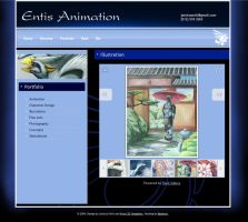 Entis Animation Site Design by calger459