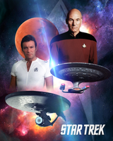 Star Trek Kirk and Picard by PZNS