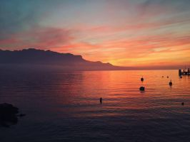 Sunset in Switzerland by vehemently-austere