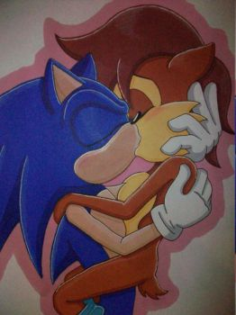 Sonic and Sally by AzumiAngel
