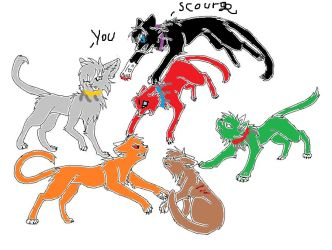 Bloodclan Cat is scourge vs shadowclan by beyoncey