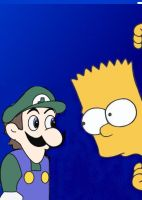 Weegee and Bart by Miah-V