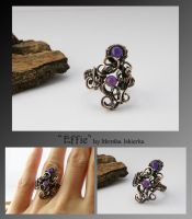 Effie- wire wrapped ring by mea00