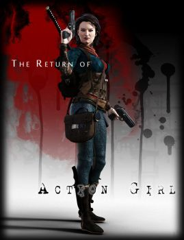 The Return of Action Girl Graphic Novel Cover by argel1200