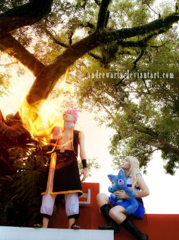 Natsu and Lucy of Fairy Tail by andrewartX