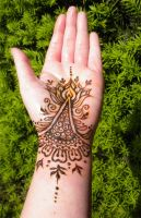 Henna Lotus Palm and Bracelet by flowerwills