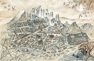 Legend of the Five Rings RPG Village Map by FrancescaBaerald
