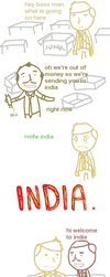 OUTSOURCED COMIC by le-internationale