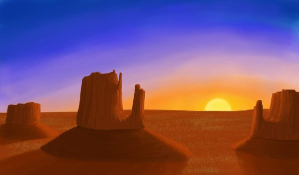 Desert Sunset by GarrettRS