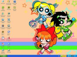 Powerpuff Girls desktop by animequeen20012003