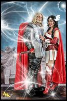 Thor and Sif by rozfriday