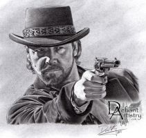 Russell Crowe as Ben Wade by superchickenn123