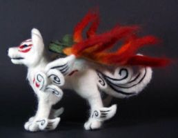 Okami Amaterasu Wolf Plush II by The-GoblinQueen