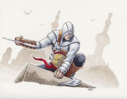 Altair Assassin's Creed by mylesillustration