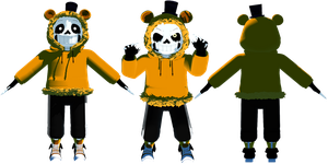 MMD Golden Sans (FNAF Sans) by KittyNekkyo