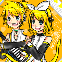 Happy Birthday Rin Len Kagamine by ciripahn