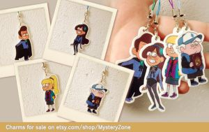 Reverse Pines charms by YazzyDream
