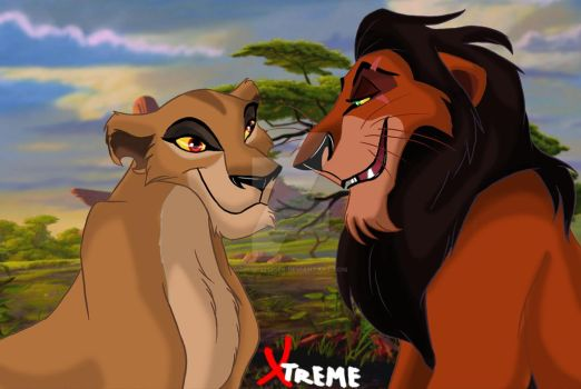 The Lion King - Zira and Scar by Diego32Tiger