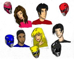 Power Ranger: Dino Fury Cast by TheBackPageComics