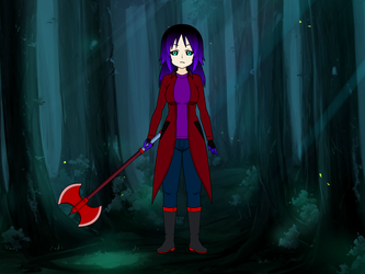CP OC Red Ghost Maskless Rebooted Design by Stormtali