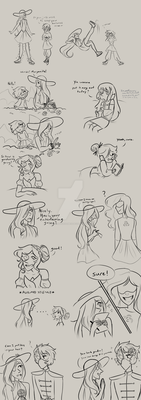 Interaction Doodles by UncreativeName15