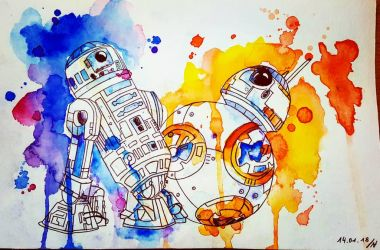 R2D2 and BB-8 (STAR WARS) by thalle-my-honey