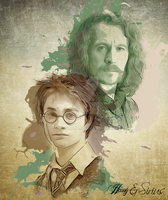 Harry and Sirius Vintage Fan Art by jennaikikz