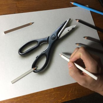 My drawing of a pair of scissors by marcellobarenghi
