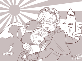 Ezreal And Ashe by chanseven
