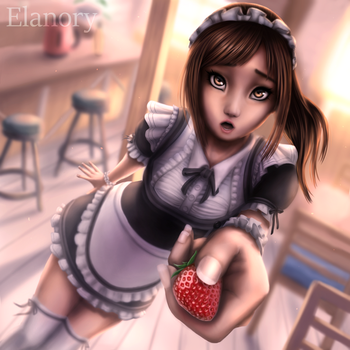 Strawberry Maid by Elanory