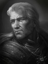 Fast Drawing: Geralt of Rivia by TamplierPainter