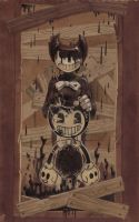 BATIM: the Ink Demon + speedpaint by Unita-N