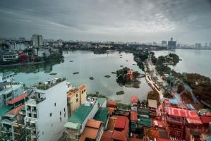 good morning Vietnam - Hanoi from my window by Rikitza