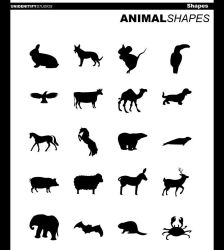 20 Animal Shapes for Photoshop by UnidentifyStudios