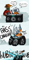 BASS CANNON by LlamaDoodle