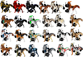 Mystery Dracon Wolves Adopts by Swaps-Adopts