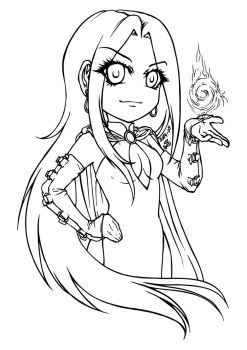 Sorceress line art FREE FOR PRACTISING COLOURS by sonialeong