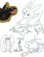 HTTYD toothless doodles by yamilink