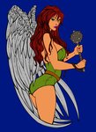 Hawkgirl Inks by Schappell Flat Carlos Campos by carloscamposart